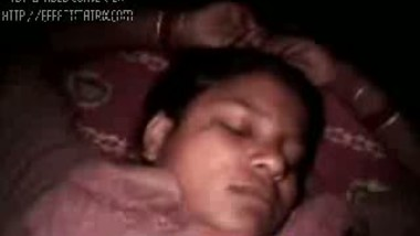 Girlfriends's private parts explored while sleeping