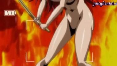 Anime lesbians fingering their wet cunts