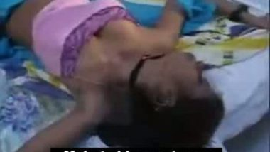Very hot aunty on bed exposing navel boobs thighs