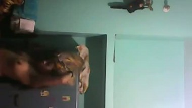 Indian desi Edler sister changing dress at home captured using spy camera