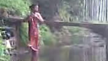 Aunty Bathing In The River
