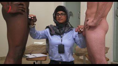 Desi porn of Hot Mia Khalifa threesome sex
