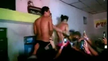 Strip fest party in hottest Indian college mms scandal