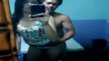 Assam couple home sex in front of mirror & blowjob