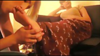 indian mistress and her friend use lesbian feet slave