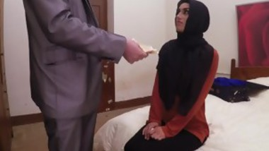 Shy Arab girl with perky boobs sells pussy to rich horny man