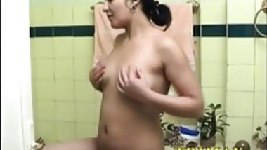 Mature Indian MILF Masturbating In Shower Fucking Her Pussy
