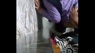 Indian school girl having a doggy sex