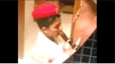 Desi Air Hostess Kiran Yadav's Cock Sucking Clip