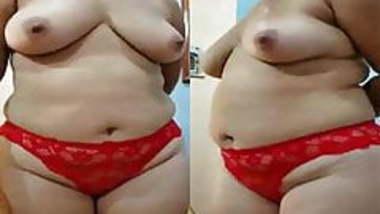 Indian desi milf big ass in red panty bhabhi nude