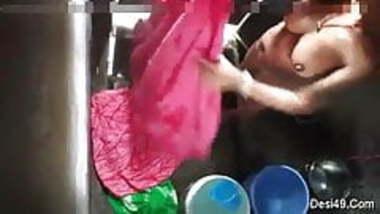 Bhabi bathing hidden