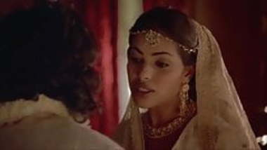 Indira Varma and Sarita Choudhury in a kamasutra movie
