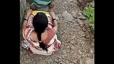Cheating Indian Wife Fucks Lover outdoors while Husband at work