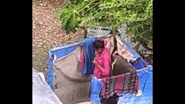 Indian girl bathing outdoor part 2 full nangi